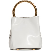 MARNI Hammered Handle Leather Bucket Bag