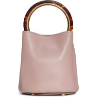 MARNI Ring Handle Leather Bucket Bag