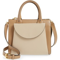 MARNI Law Colorblock Leather Top Handle Satchel