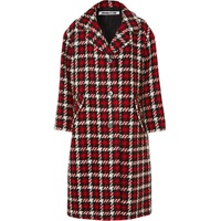 McQ Alexander McQueen Oversized checked wool-blend boucle coat 14e4bae949bd