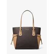 MICHAEL Michael Kors Voyager Small Two-Tone Logo Tote Bag