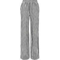 Michael Kors Collection Striped silk-crepe wide-leg pants