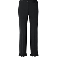 Michael Kors Collection Ruffle-trimmed wool-blend crepe straight-leg pants