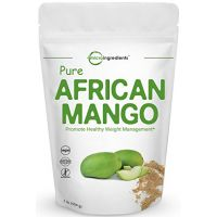 Micro Ingredients Maximum Strength Pure African Mango Extract Powder (Irvingia Gabonensis, Wild Mango), 1 Pound, Powerfully Promotes Weight Loss, Reduces Body Fat, Cholesterol and Leptin. Non-GMO an
