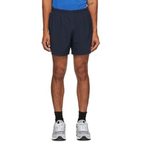 Navy & Green Impact Run 5-Inch Shorts