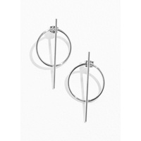& OTHER STORIES Circle Bar Earrings