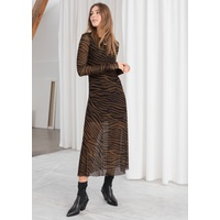 & OTHER STORIES Sheer Zebra Midi Dress