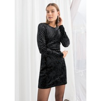 & OTHER STORIES Fitted Crushed Velvet Mini Dress