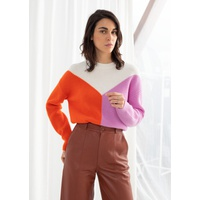 & OTHER STORIES Wool Blend Colour Block Sweater