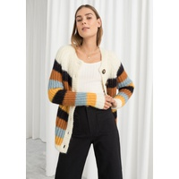 & OTHER STORIES Striped Wool Blend Cardigan