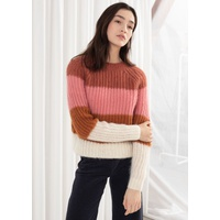 & OTHER STORIES Pastel Striped Wool Blend Sweater