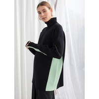 & OTHER STORIES Oversized Side Stripe Turtleneck