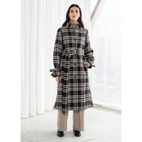 & OTHER STORIES Belted Plaid Trench Coat