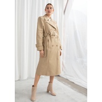 & OTHER STORIES Belted A-Line Trenchcoat