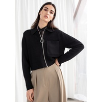 & OTHER STORIES Cropped Rib Knit Jacket