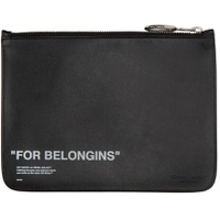 Black Bold Quote Pouch