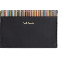Black Card Holder & Multicolor Three-Pack Socks Gift Set