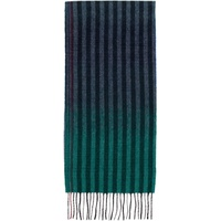 Navy & Multicolor Wool Sunset Stripes Scarf