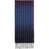 Multicolor Wool Sunset Stripes Scarf
