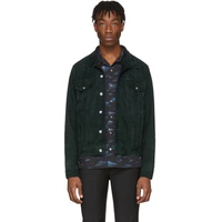 Green Suede Trucker Jacket