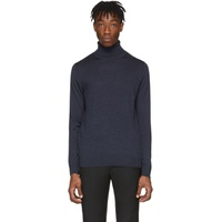 Navy Merino Artist Stripe Turtleneck
