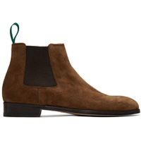 Brown Crown Chelsea Boots