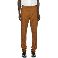 Orange Wool Check Trousers