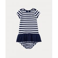 Striped Eyelet Dress  Bloomer
