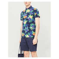 POLO RALPH LAUREN Floral-print cotton-pique polo shirt