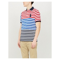 POLO RALPH LAUREN Colour block stripe cotton-pique polo shirt