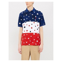 POLO RALPH LAUREN Star patterned slim-fit cotton polo shirt