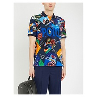 POLO RALPH LAUREN Graphic-print cotton-pique polo shirt