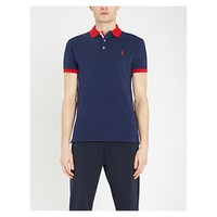 POLO RALPH LAUREN Contrast stretch-cotton-pique polo shirt