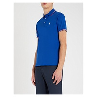 POLO RALPH LAUREN Striped-trim cotton polo shirt