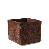 Polo Ralph Lauren Tooled Leather Storage Box