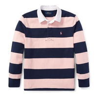 Polo Ralph Lauren Pink Pony Striped Cotton Rugby