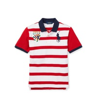 Polo Ralph Lauren Striped Cotton Mesh Polo Shirt