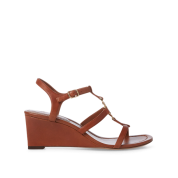 Elina Leather Wedge Sandal