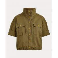 Cotton Canvas Drawcord Jacket