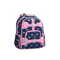 Potterybarn Mackenzie Navy Pink Multicolor Hearts Backpack