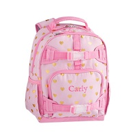 Potterybarn Mackenzie Pink/Gold Foil Hearts Backpacks