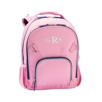 Potterybarn Fairfax Solid Pink/Navy Trim Backpacks