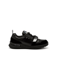 Prada Velcro-strap leather and technical trainers