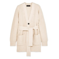 Proenza Schouler Belted ribbed cotton-blend cardigan