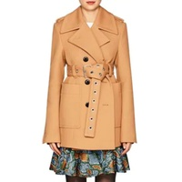 Proenza Schouler Twill Belted Double-Breasted Coat
