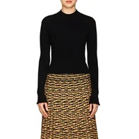 Proenza Schouler Raw-Edge Rib-Knit Fitted Sweater