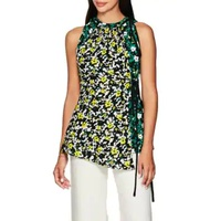 Proenza Schouler Layered Floral Crepe Top