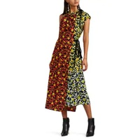 Proenza Schouler Layered Floral Crepe Asymmetric Dress