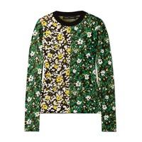 Proenza Schouler Floral-print silk-jacquard sweater b20755c4ca