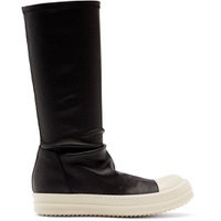 Black & Off-White Sock Boots